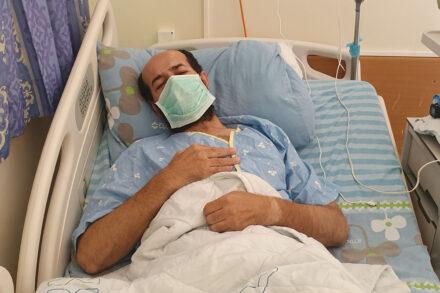 שובת הרעב מאהר אלאח'רס בבית החולים קפלן (צילום: שיחה מקומית)