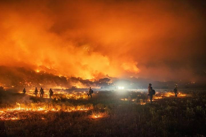 """שריפה בקולורדו, שפרצה ב-24 בספטמבר 2020 (צילום: שירות היערות של ארה""""ב)"""