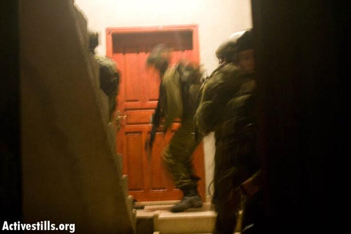 חיילים בכפר עסירה אל-קיבליה (צילום: אורן זיו)