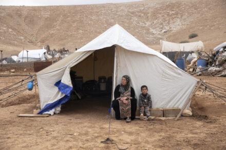 התושבים עברו לגור באוהלים. ח׳ירבת חומסה אל-פוקא, 6 בנובמבר 2020 (צילום אורן זיו)
