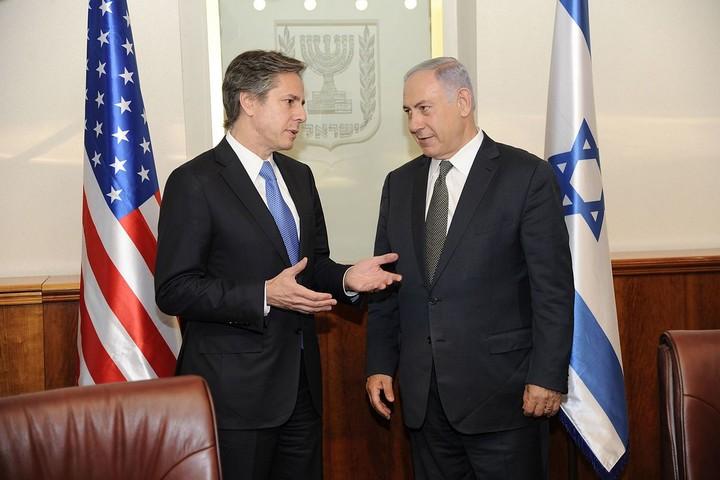 אנתוני בלינקן ובנימין נתניהו בפגישה בירושלים, ב-16 ביוני 2016 (צילום: משרד החוץ האמריקאי)