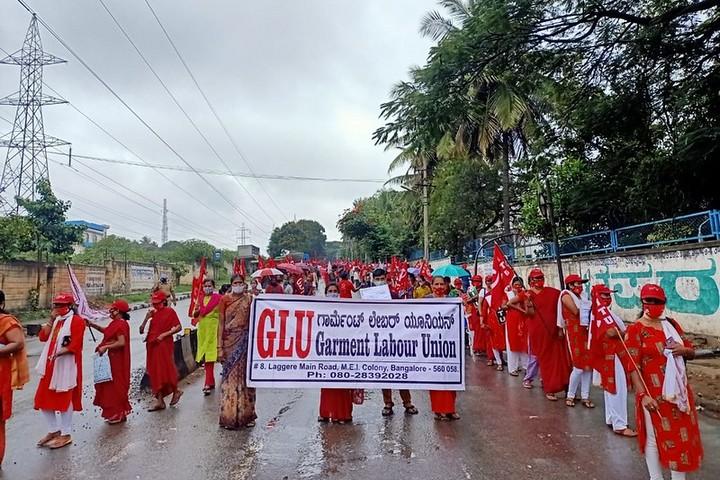 מפגינות בהודו, ב-26 בנובמבר 2020 (צילום: IndustriALL Global Union, CC BY-NC-ND 2.0)
