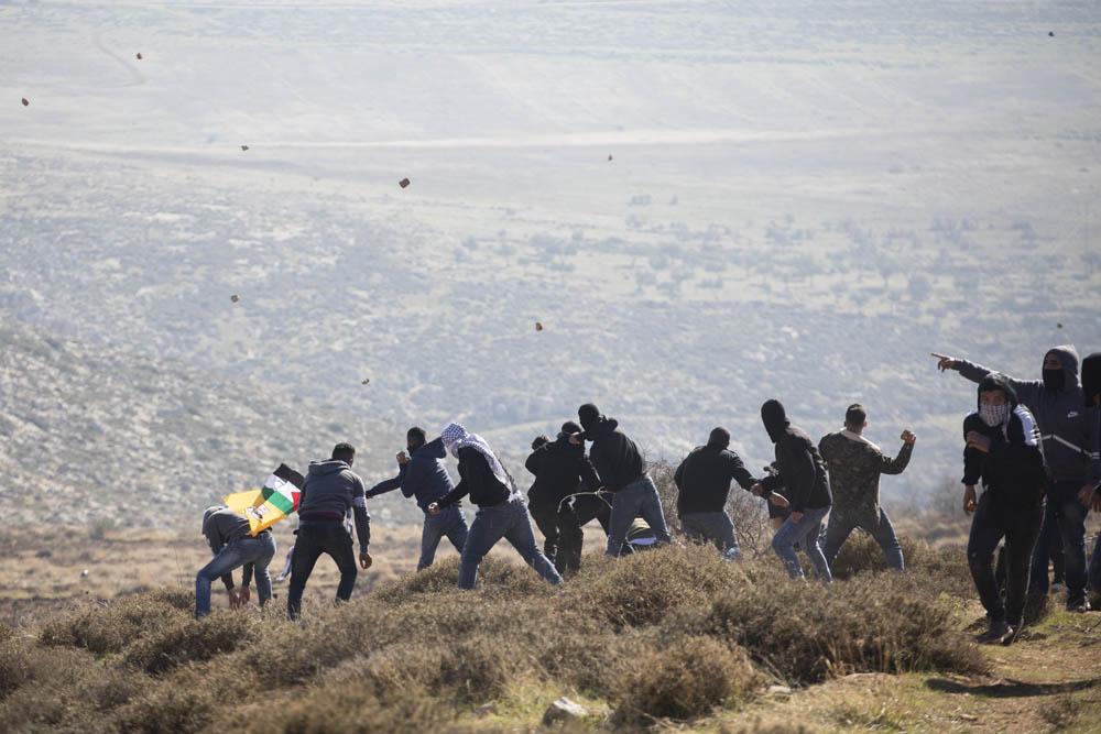 הפגנה נגד מחאז שהוקם סמוך למקום התאונה שבה נהרג אהוביה סנדק. (צילום: אורן זיו)
