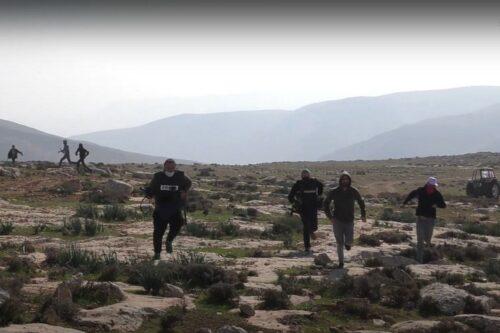 צילום מסך מתיעוד הירי, מתוך סרטון של בצלם
