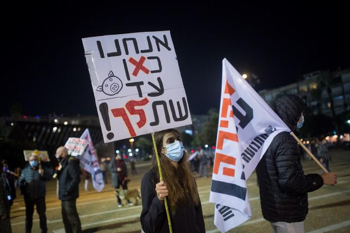 מחאה נגד ראש הממשלה בנימין נתניהו, ב-28 בנובמבר 2020 (צילום: מרים אלסטר / פלאש90)