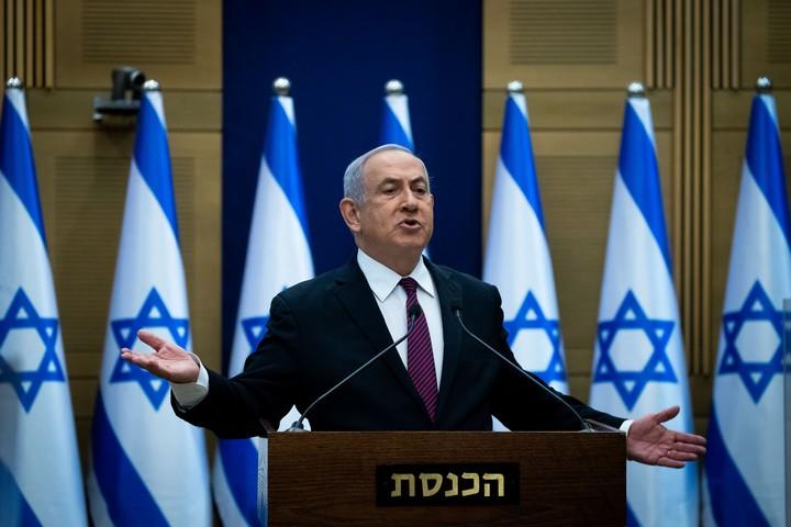 ראש הממשלה, בנימין נתניהו, מוסר הצהרה לתקשורת בכנסת, ב-2 בנובמבר 2020 (צילום: יונתן זינדל / פלאש90)