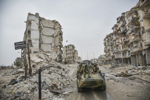 חורבן בחאלב, סוריה, בדצמבר 2016 (צילום: משרד הביטחון הרוסי, CC BY 4.0)