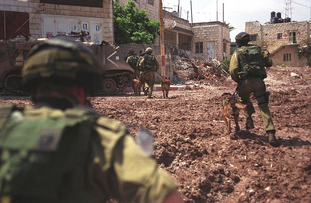 """ביקש לתעד את החורבן הטוטאלי במחנה. חיילים בג'נין, אביב 2002 (צילום: דובר צה""""ל)"""