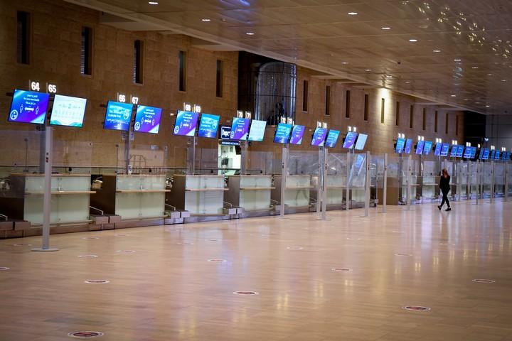 שדה התעופה בן גוריון, ב-24 בינואר 2021 (צילום: פלאש90)