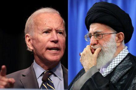 """המנהיג העליון של איראן עלי ח'אמנהאי (מימין) ונשיא ארה""""ב ג'ו ביידן (צילומים: khamenei.ir, CC BY 4.0 ו-Gage Skidmore, CC BY-SA 2.0)"""