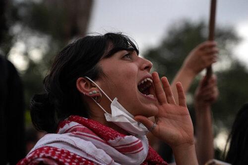 הפגנה נגד אלימות משטרתית בחיפה (צילום מריה זריק/אקטיבסטילס)