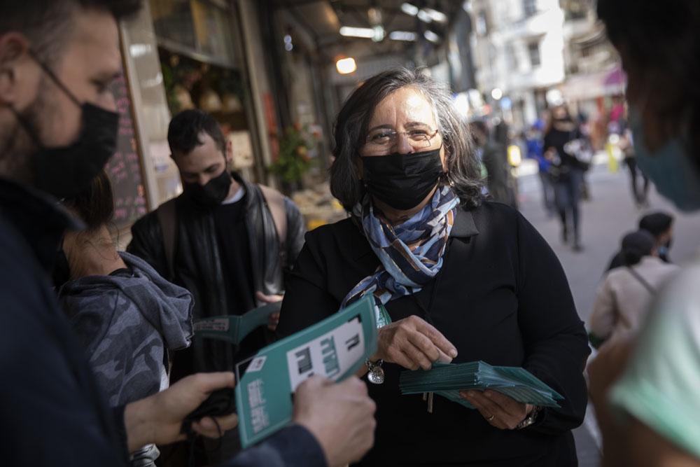 העירייה רוצה למחוק את הזהות הערבית. חברת הכנסת עאידה תומא סלימאן (צילום: אורן זיו)