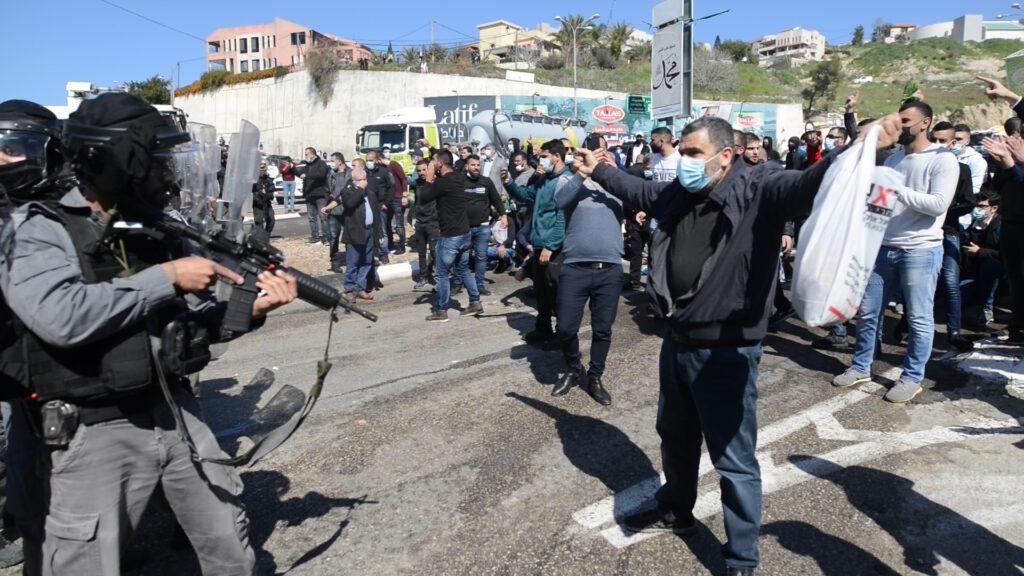 המחאה ברום אל פחם (צילום מתן גולן)