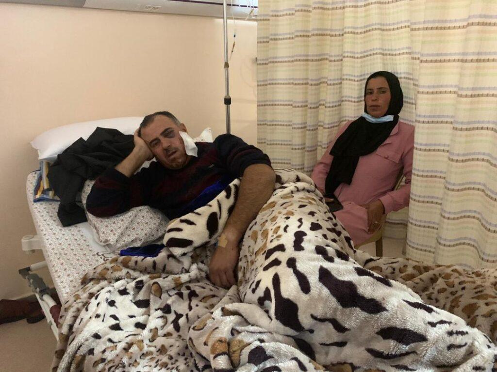 זוג שהלך לעשות פיקניק. סעיד ורימא אבו עליאן בבית החולים (באסל אל-עדרה)