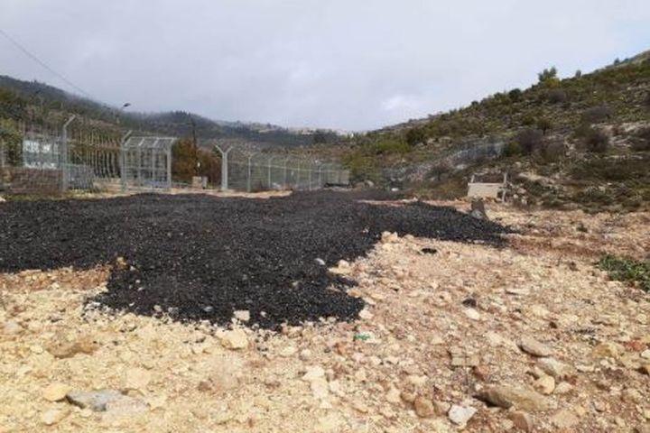 המחסום לא הוזז, הנזק לטראסות נשאר (צילום: אביב טטרסקי, דהרמה מעורבות חברתית)