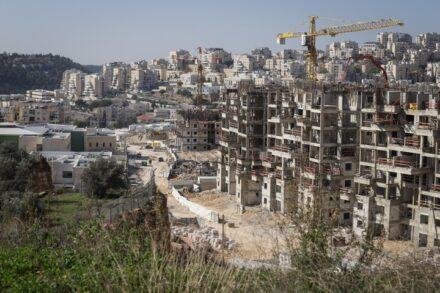בנייה בהתנחלות החרדית מודיעין עילית, ב-11 בינואר 2021 (צילום: פלאש90)