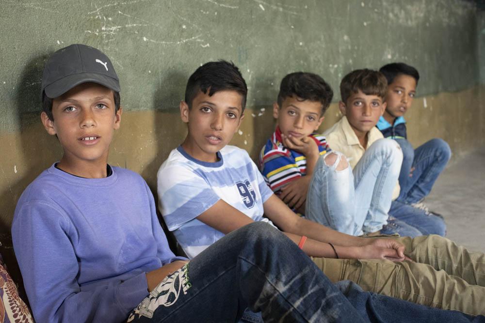 אין שום תיעוד לכך שפרצו לבית או גנבו. הילדים שנעצרו על ידי החיילים (צילום: אורן זיו)