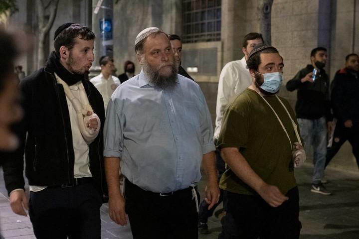 """מייסד ארגון להב""""ה, בנצי גופשטיין, בצעדת הימין בירושלים, ב-22 באפריל 2021 (צילום: אורן זיו)"""