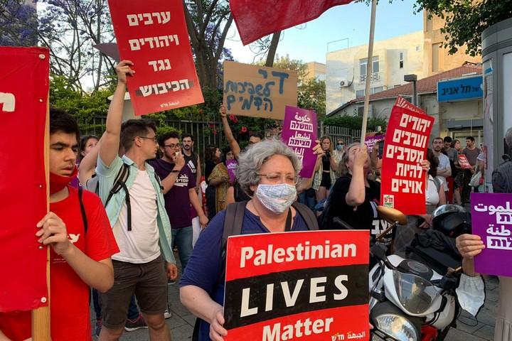 הפגנה בתל אביב, 11 במאי 2021 (צילום: חגי מטר)