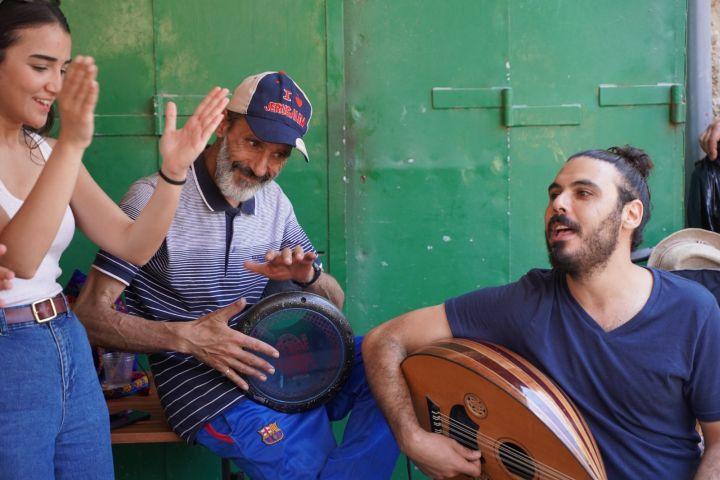 """המחאה התרבותית חשובה לא פחות מהכלכלה. אירוע מוזיקלי בנצרת במסגרת """"שבוע הכלכלה הפלסטינית"""". (צילום: קרן מנור / אקטיבסטילס)"""