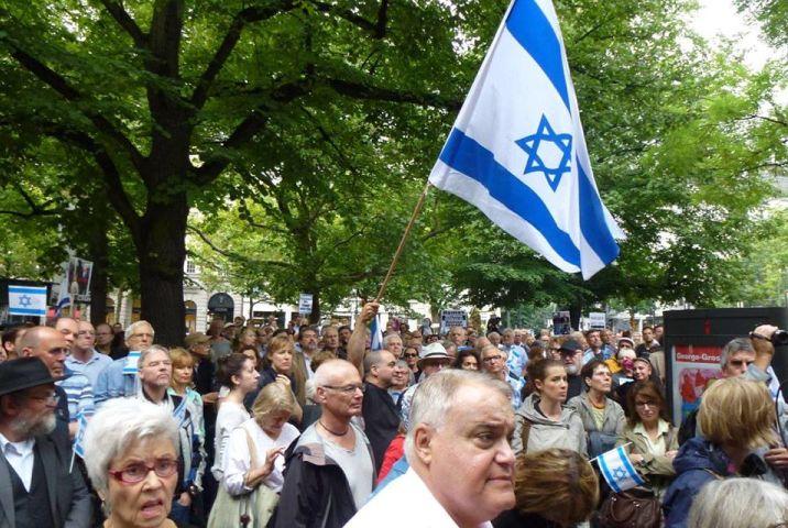 התמיכה בישראל נטועה עמוק בפוליטיקה הגרמנית. הפגנת תמיכה בישראל בברלין ב-2014 (צילום: משרד החוץ הישראלי)