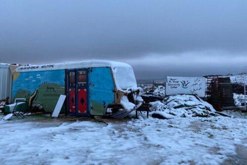 אום אל ח'יר, אחרי סופת שלגים נדירה (צילום: נטשה ווסטהיימר)