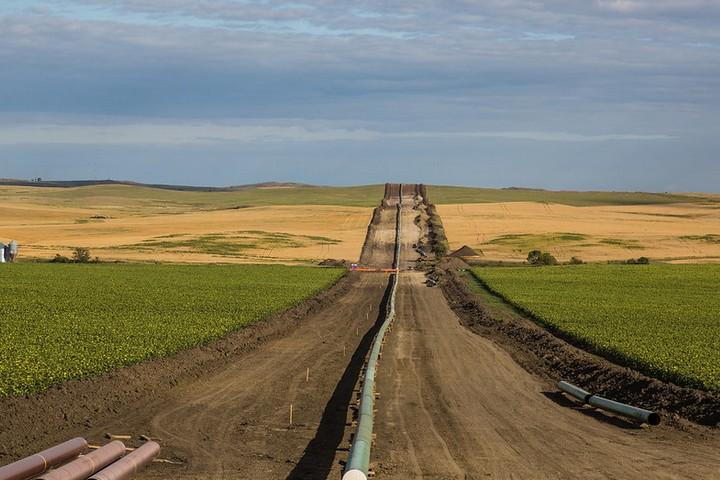 חלק מצינור הנפט DAPL בצפון דקוטה, ב-2016 (צילום: Tony Webster, CC BY-SA 2.0)