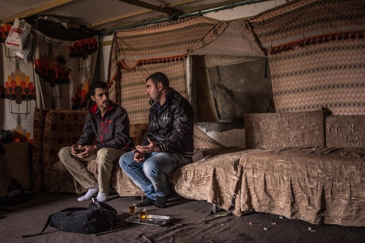 נאסר נווג'עה (מימין) ושי אילוק (צילום: ויולטה סנטוס מורה)