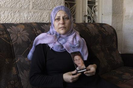אמו של מוחמד תמימי בכפר נאבי סאלח (צילום: אורן זיו)