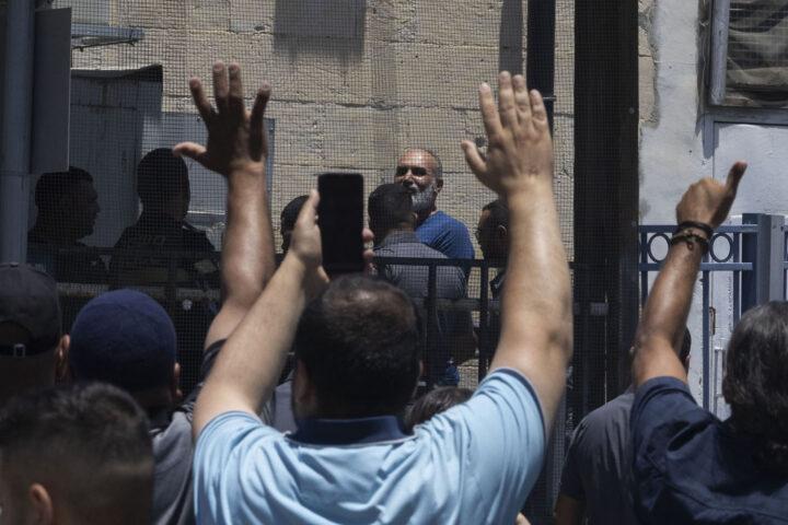 מוחמד כנאענה בבבית המשפט השלום בירולשים, וני 2021 (צילום: אורן זיו)