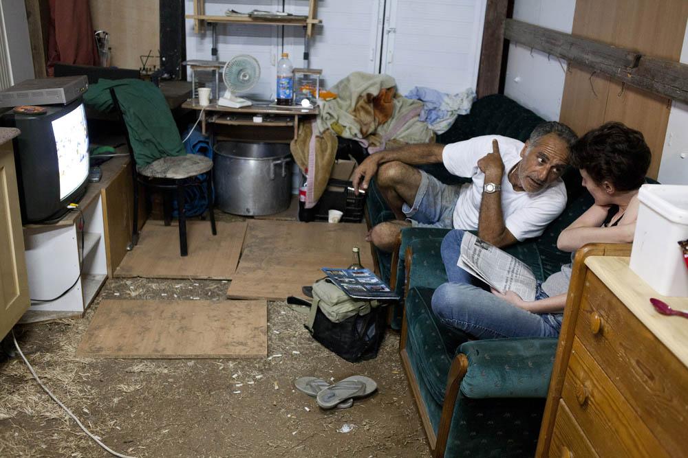 המאהל בשכונת ג'סי כהן בחולון, בספטמבר 2011 (צילום: אורן זיו)