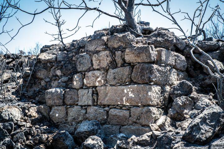 שריד של מעיין ופינת מבנה, בית אום אל חמיס (צילומים: מתן גולן)