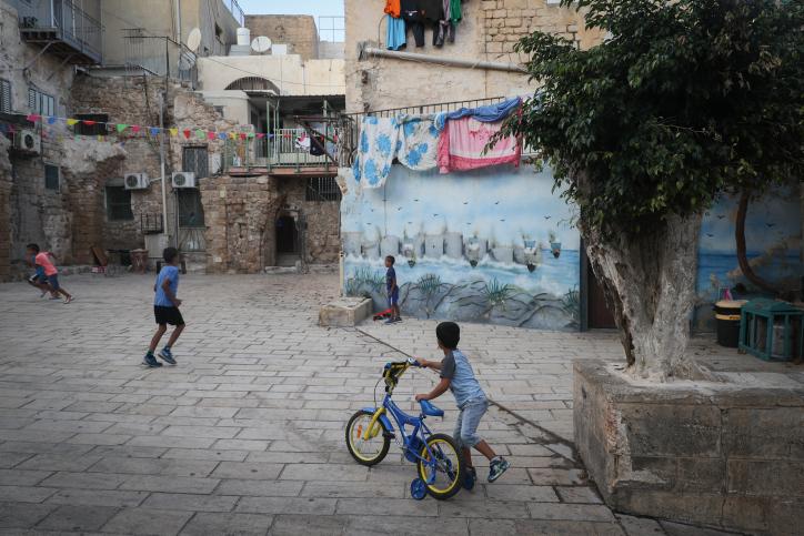 תלמיד יהודי חלש בעכו מקבל ב-50 אחוז יותר ממקבילו הערבי. ילדים בעיר העתיקה בעכו (צילום: נתי שוחט / פלאש 90)