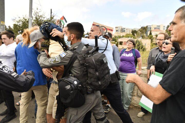 ההפגנה השבועית בשייח׳ ג׳ראח, 24 בספטמבר 2021 (צילום: מתן גולן)