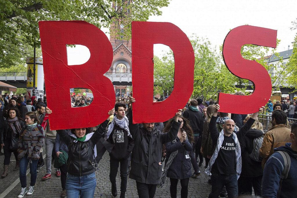 הפגנת תמיכה בחרם על ישראל בברלין (צילום: קרן מנור / אקטיבסטילס)