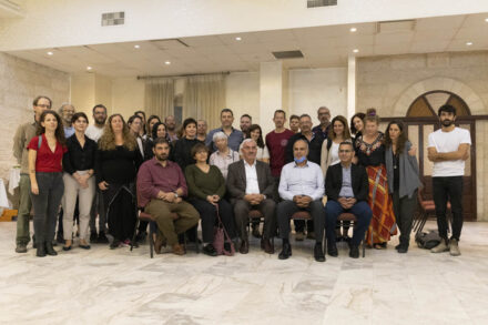 גנץ חצה קו אדום. ביקור הסולידריות של ארגוני זכויות האדם הישראליים בתמיכה בארגונים הפלסטיניים ברמאללה (צילום: אורן זיו)