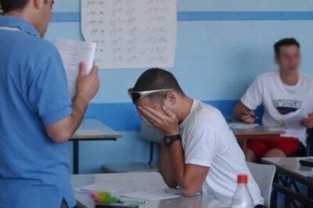 נער במהלך בחינת הבגרות (פלאש 90)